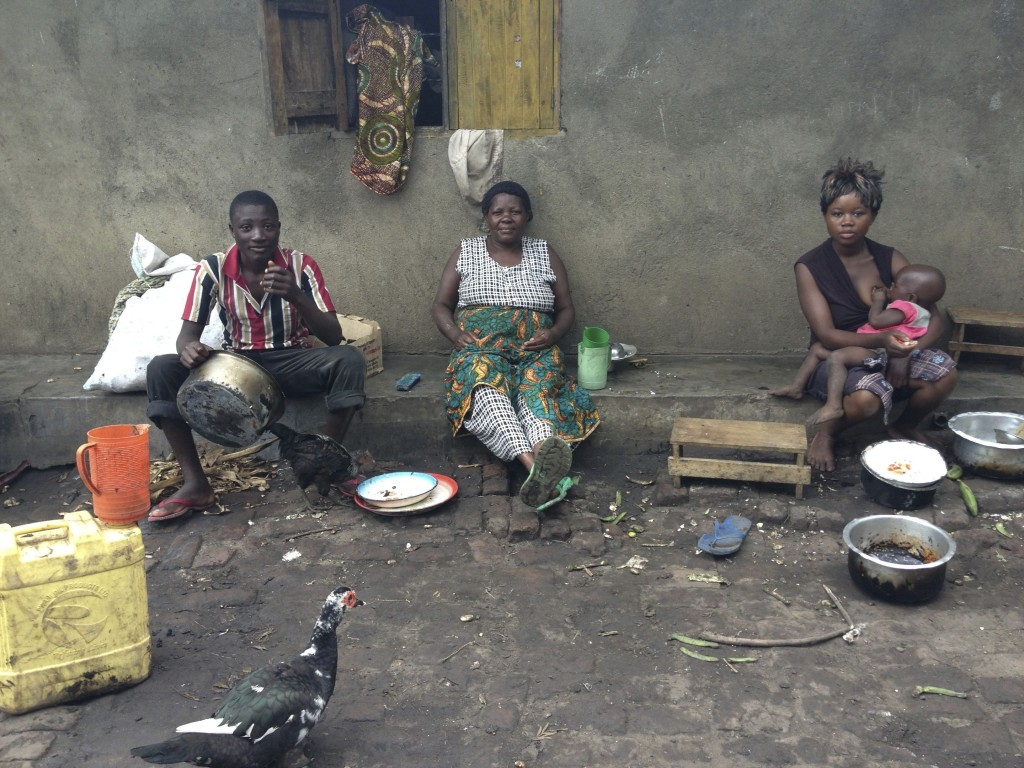 african family courtyard